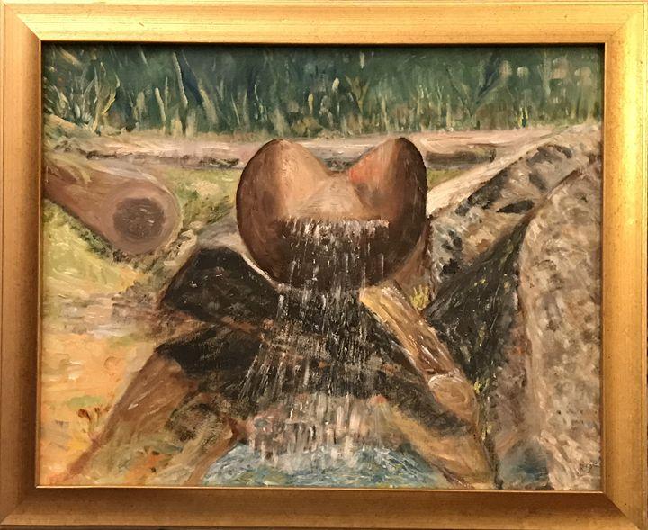 Stream (Tatra Mountains) - Panuszka's paintings