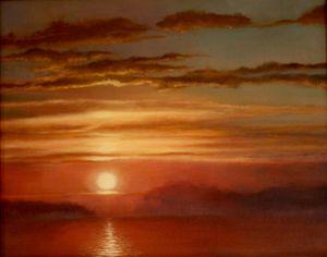 Fire sunset