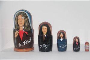 Led Zeppelin 5 Pc Art - Russian nesting doll