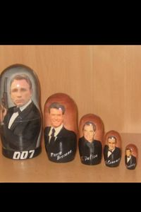 James Bond Russian Nedting Doll