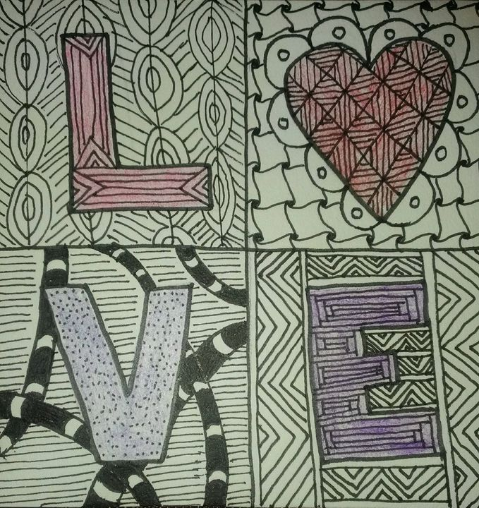 L-heart-ve Tangle - The Painted Kat