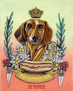 The Hottest Dog In Town - Evan Schwartz Art