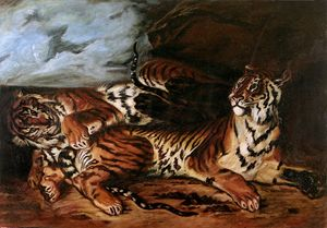 The Tigers oil on canvas