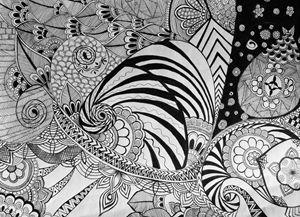 White & Black Doodle