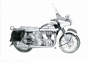 Norton motor bike