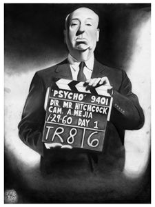 ALFRED HITCHCOCK PORTRAIT - POSTER