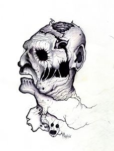 Deformed Monster Face - Horror Movie Art - Paintings ...