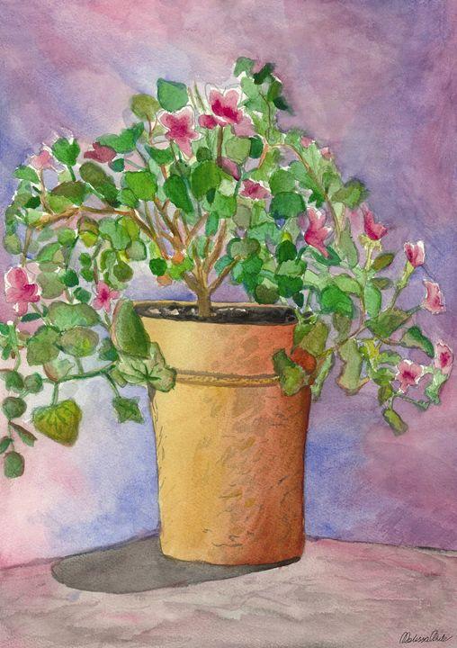 Flowers in water color 1 - Melissa White (Easelartworx)