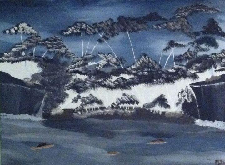 Lagoon - Monique Blanchard Canvas Paintings