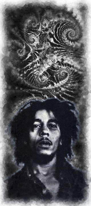 Bob Marley - 24x11 - BM-4 - Homespun Galleries