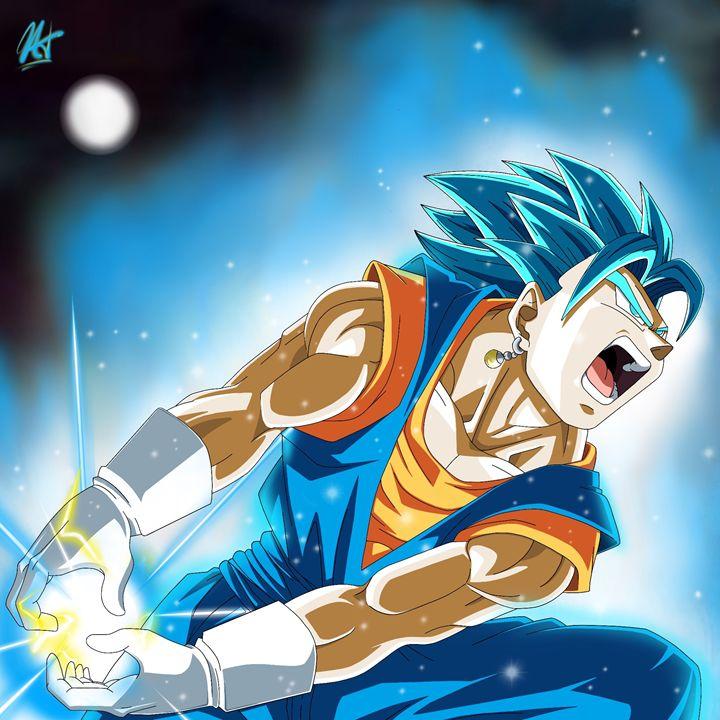 Vegito Blue - Tournament of Power - Nik Taylor Art