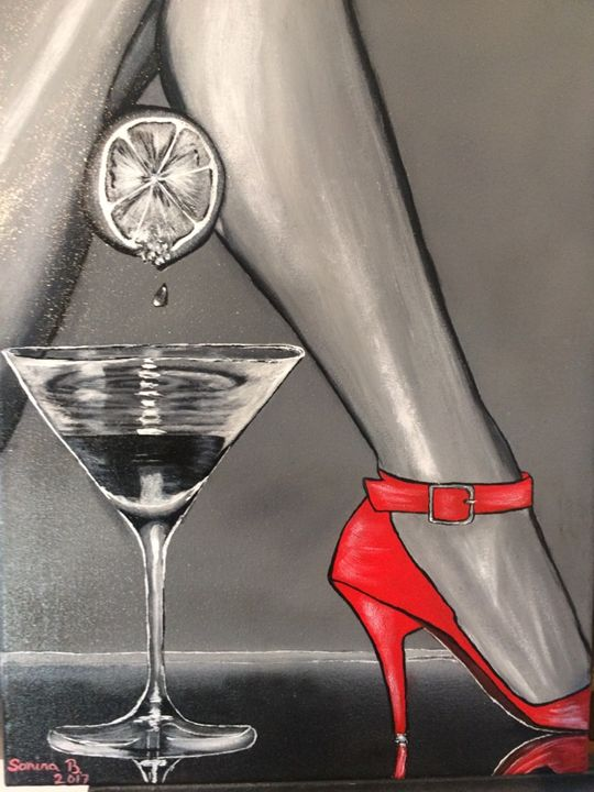 Red shoes and glass - Sorina