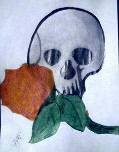 Fire Rose and Skull