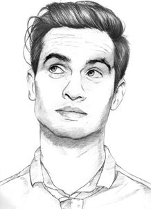 brendon urie sketch drawing 1