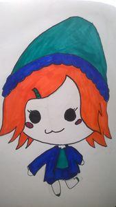 Blue hat Chibi girl