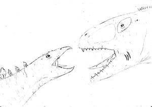 stegosaur vs carcho intro - The broken teleporter