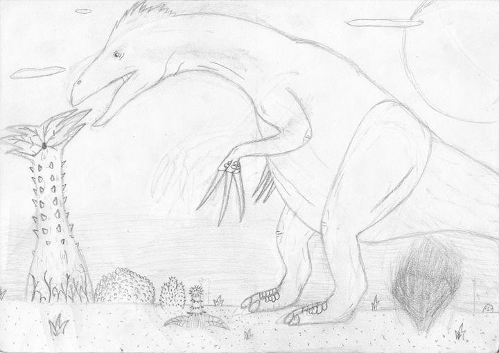 the lone therizinosaurus - The broken teleporter