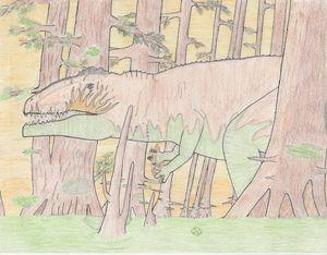 Swamp giganotosaurus