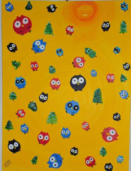 Owl Party - YoMars Art