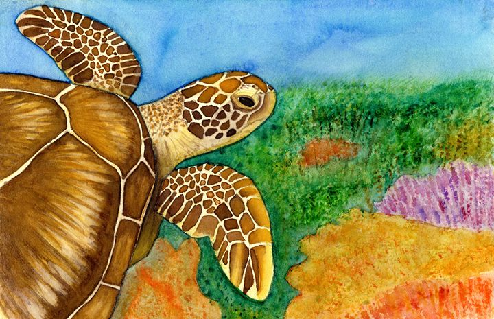 Serene Sea Turtle - Jenna Isabel Rose