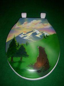 Bear Mountain Airbrushed T-Seat