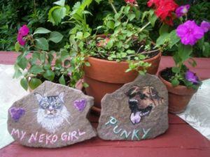 Airbrushed Pet Stones