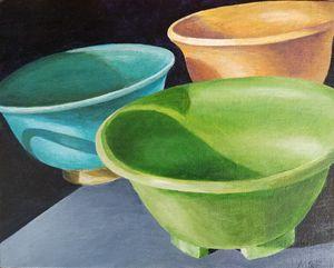 Ceramic Bowls in Sunlight
