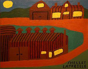 Abstract Amish Farm