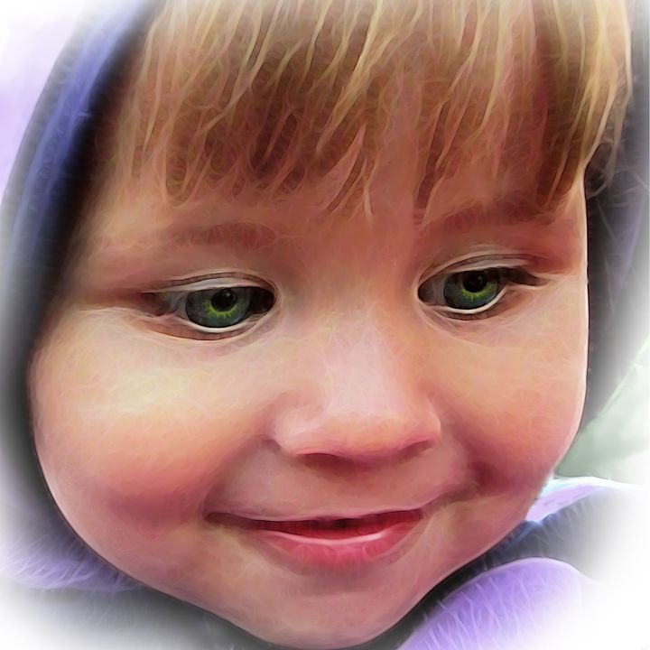 Baby green eyes - Yury Yanin