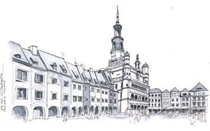 Poland, Poznan downtown