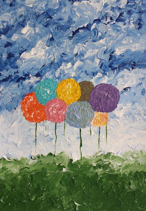 Flower Balloons - DeetsLongArt