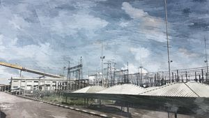 Digital Oil Painting - Power Station