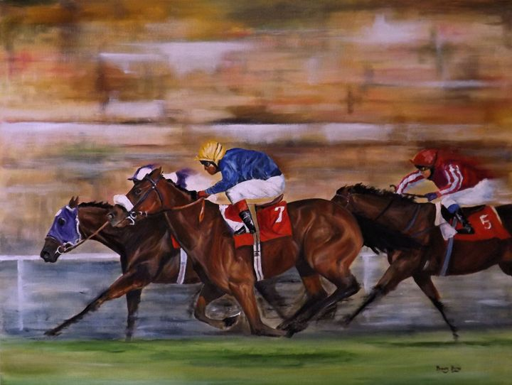 WITH A RUN ON THE OUTSIDE - Barry Blake