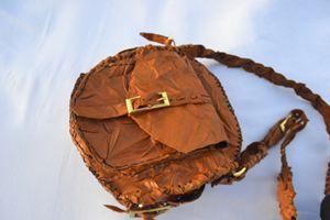 leather brown hand bag - tabarak