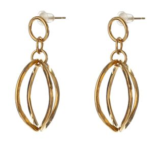 24k Gold plated Oval Earrings