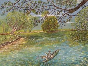 Pastoral-The Fishman And The Boat