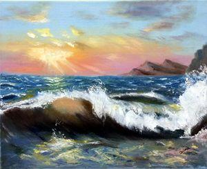 Sunset wave