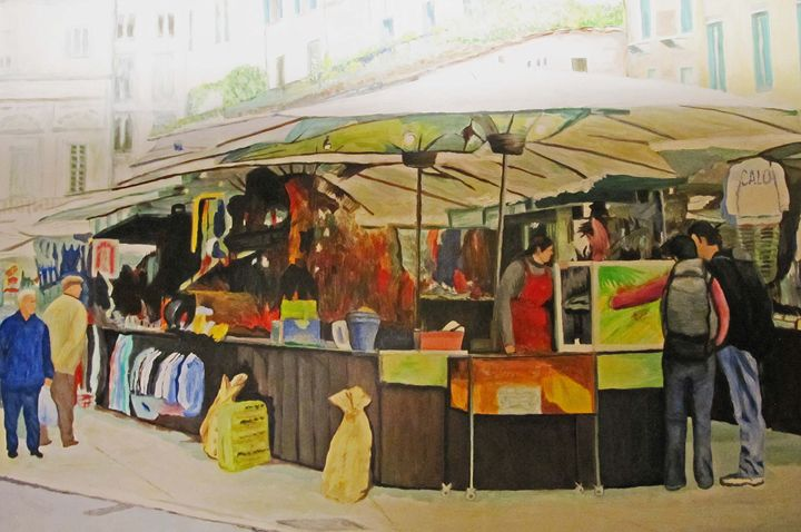 MARKETPLACE IN TRENTO ITALY - Richard L. Garabedian