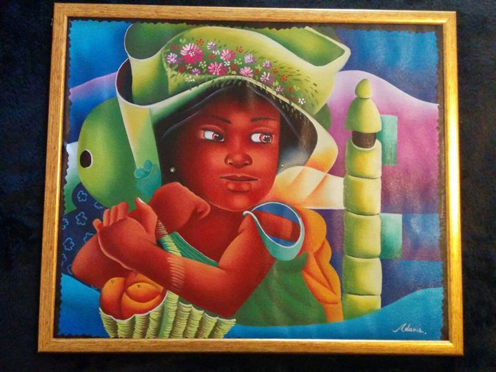 La petite créole - Original Haitian paintings