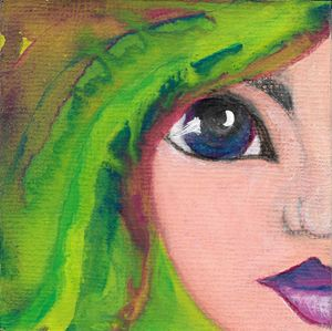 Green Whimsical Girl