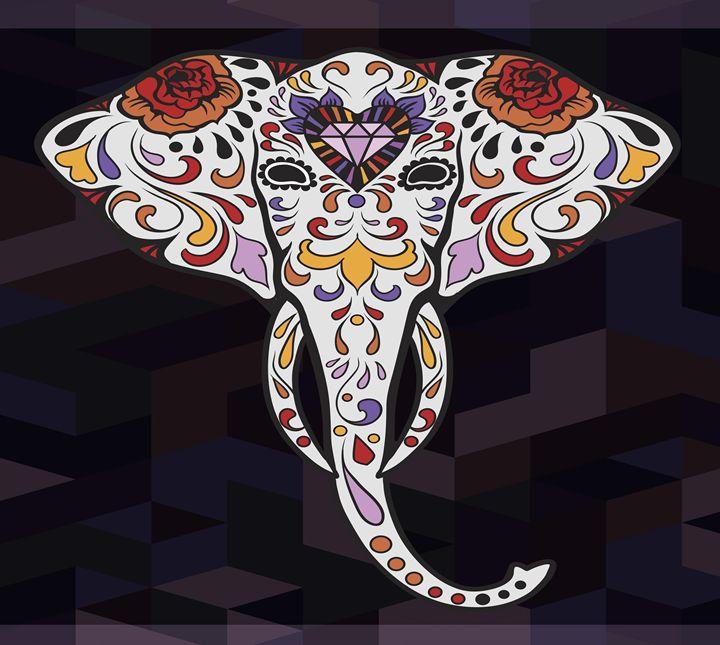 Elephant Sugar Skull - Phoenix Art Works