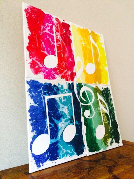 Beautiful 4 Piece Music Notes/WAX! - Rock Your Walls!