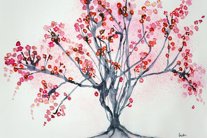 Tree with cherry blossoms - BRISTE