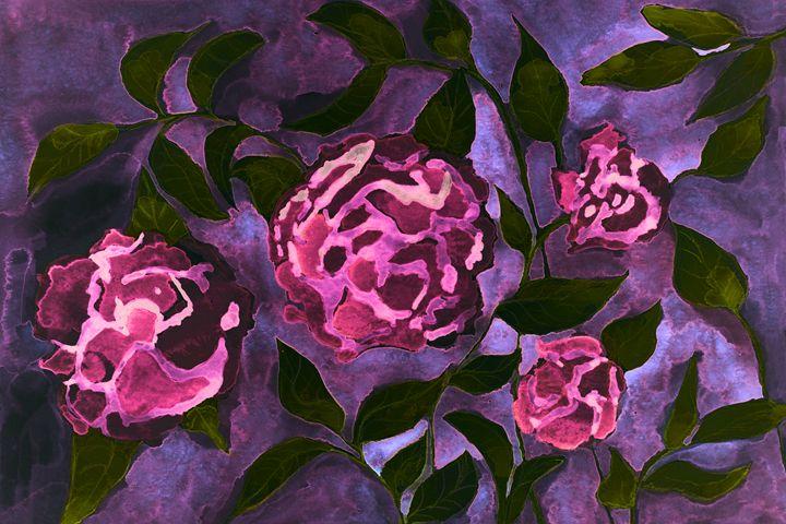 Rose psychedelic fantasy flowers on - BRISTE