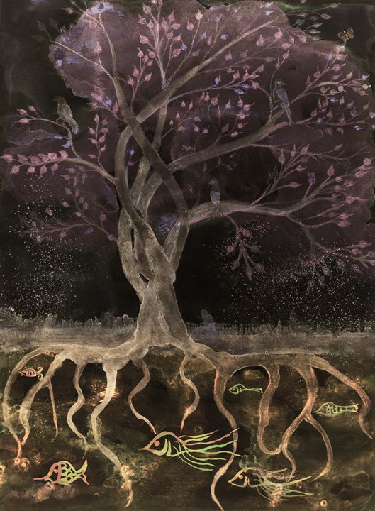Pinkisch brown tree of life in the n - BRISTE