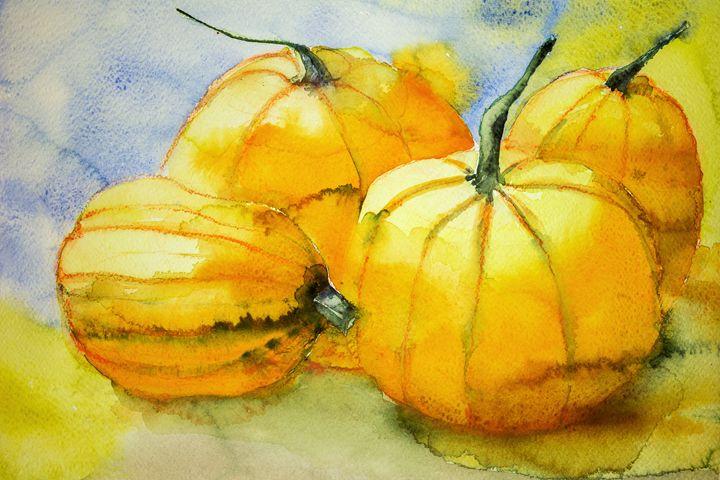Four pumpkins. - BRISTE