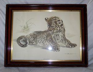 "Watercolor of Baby Leopard, 25 1/2"""