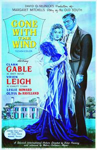 English poster of Gone with the Wind