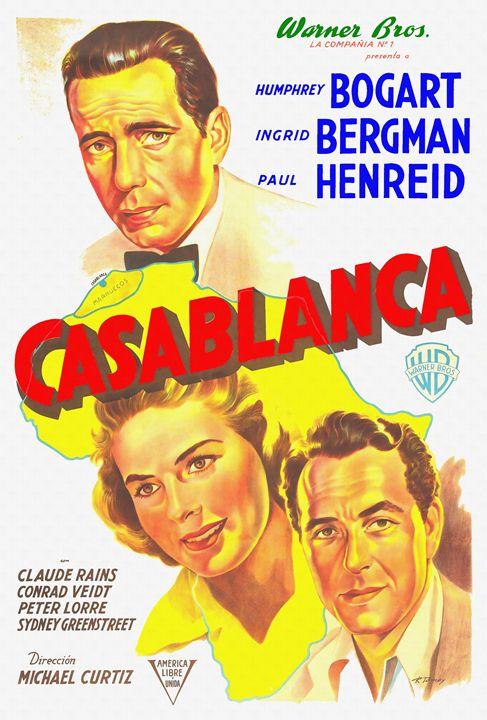 Argentinian poster of Casablanca - Art Cinema Gallery