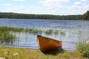 Canoe on Mirage Lake
